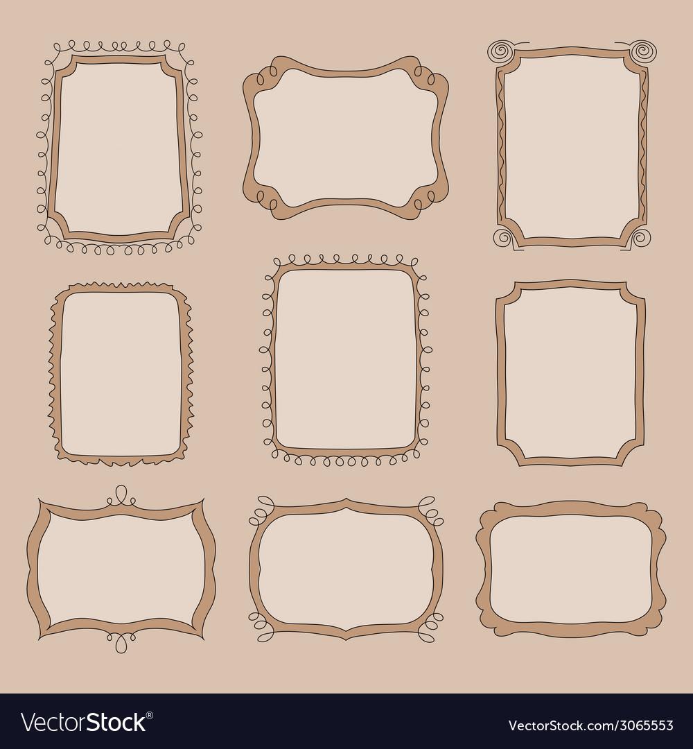 Cute doodle frames vector | Price: 1 Credit (USD $1)