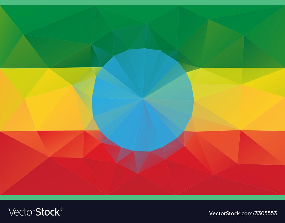 Ethiopian flag vector | Price: 1 Credit (USD $1)