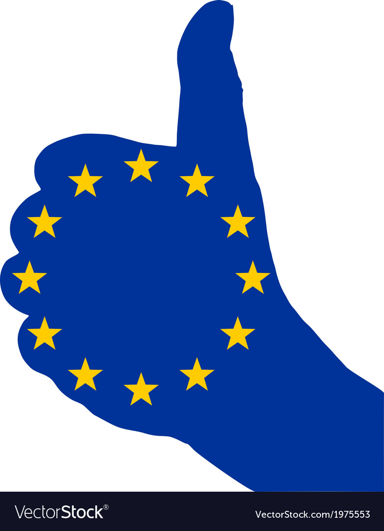 European finger signal vector | Price: 1 Credit (USD $1)