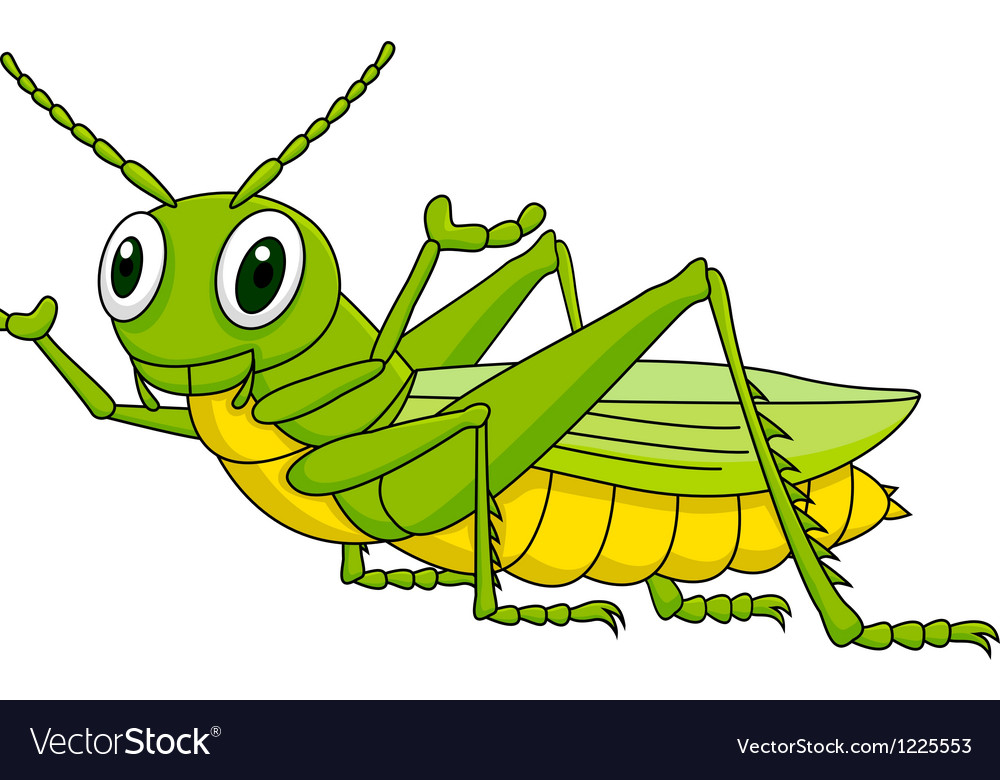 Funny grasshopper cartoon vector | Price: 3 Credit (USD $3)