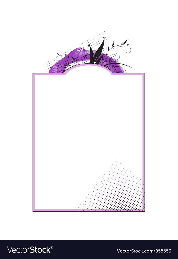 Romantic floral frame vector | Price: 1 Credit (USD $1)
