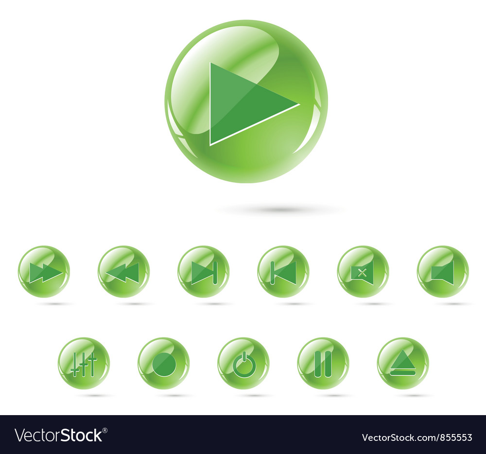 Set of glossy buttons vector   Price: 1 Credit (USD $1)