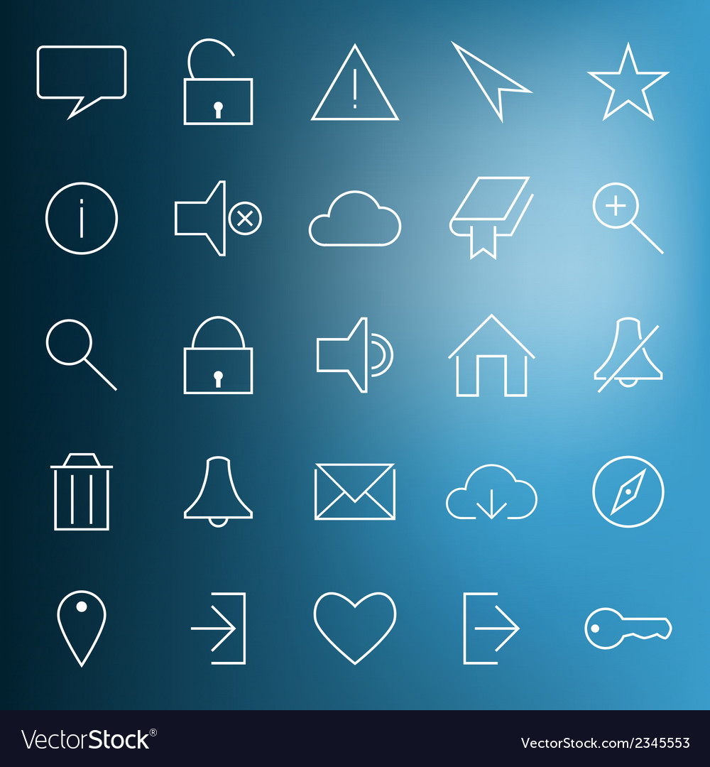 Set of modern web icons vector | Price: 1 Credit (USD $1)