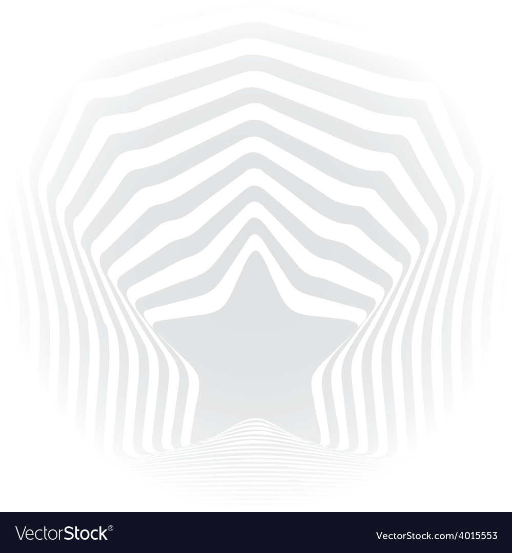 Star grey stripes optical visual art effect vector | Price: 1 Credit (USD $1)