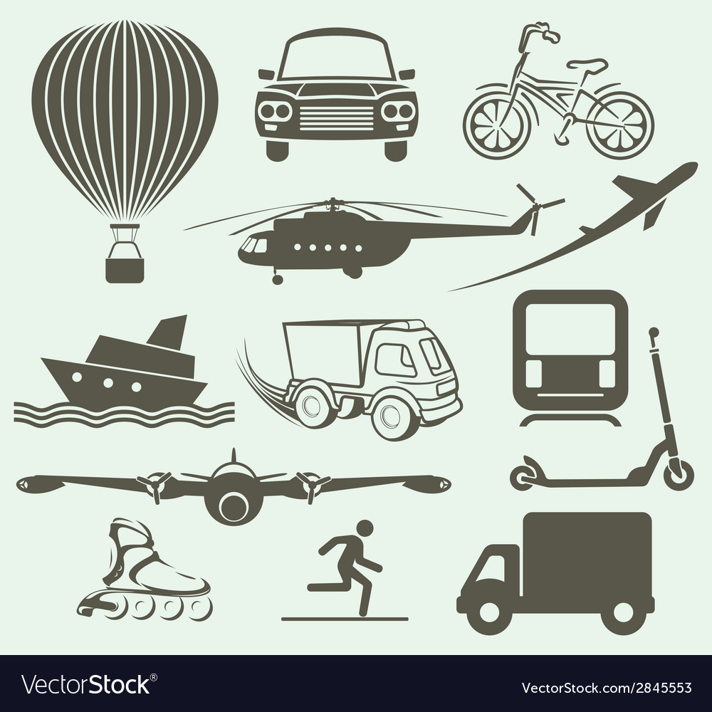 Transport icons2 resize vector | Price: 1 Credit (USD $1)