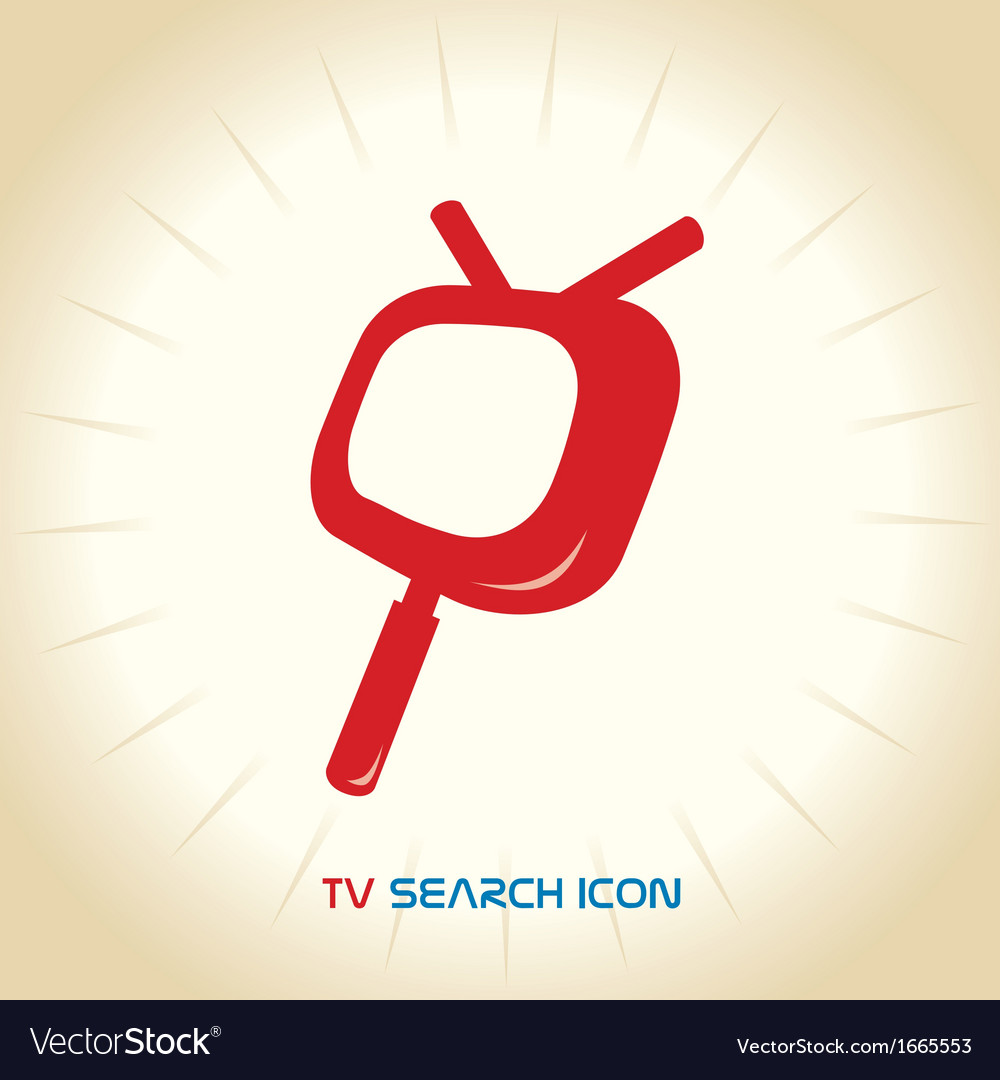 Tv search mobile icons vector | Price: 1 Credit (USD $1)