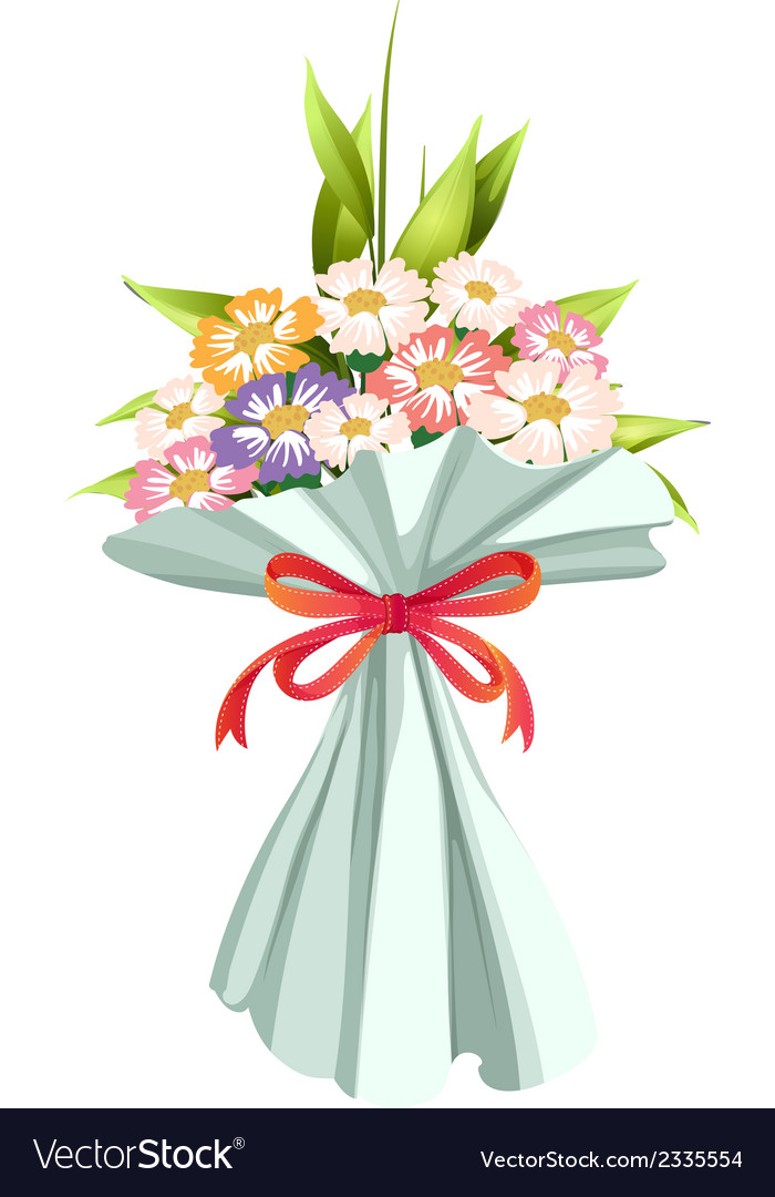A boquet of fresh and blooming flowers vector | Price: 1 Credit (USD $1)