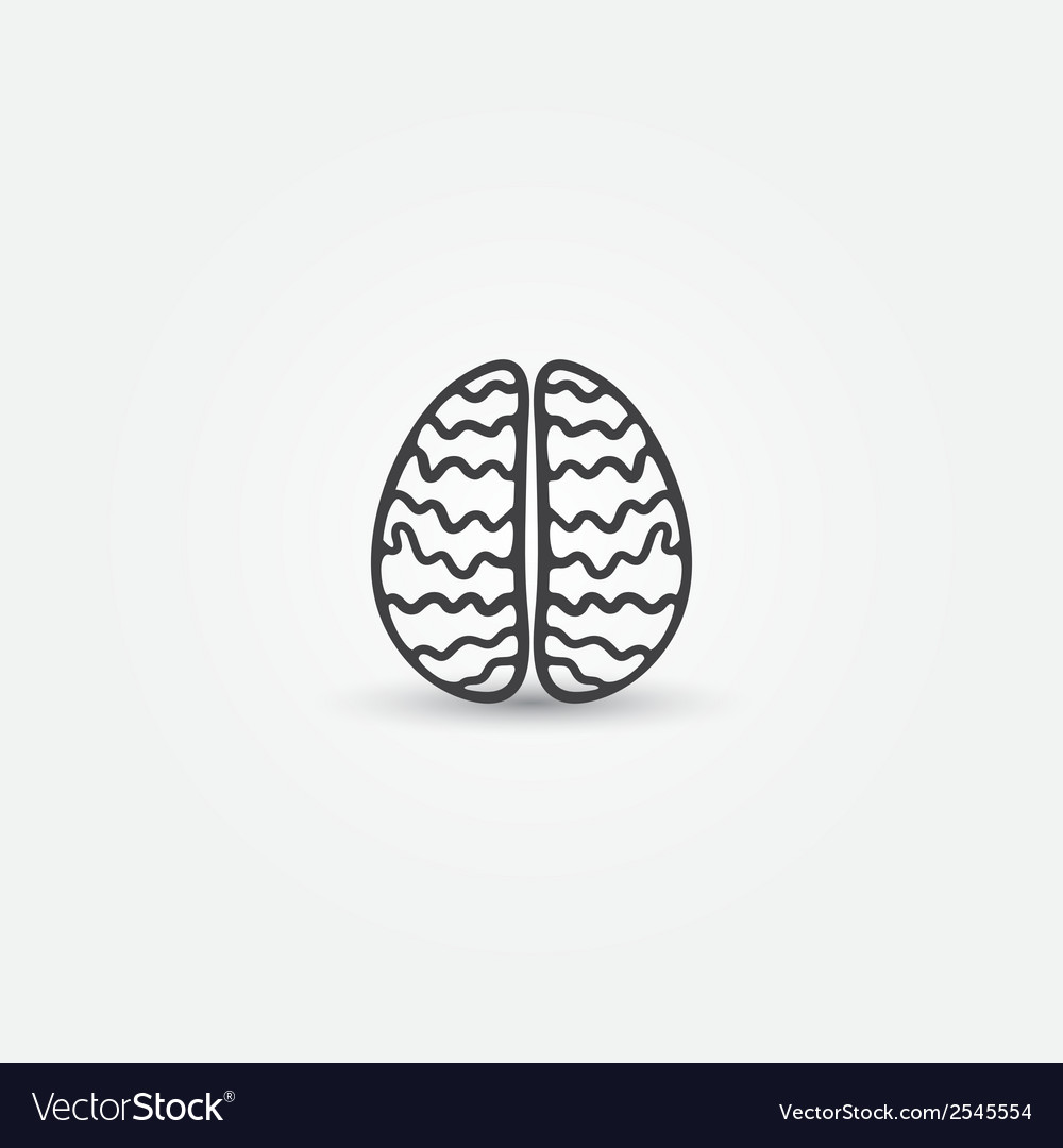 Abstract simple brain icon vector | Price: 1 Credit (USD $1)