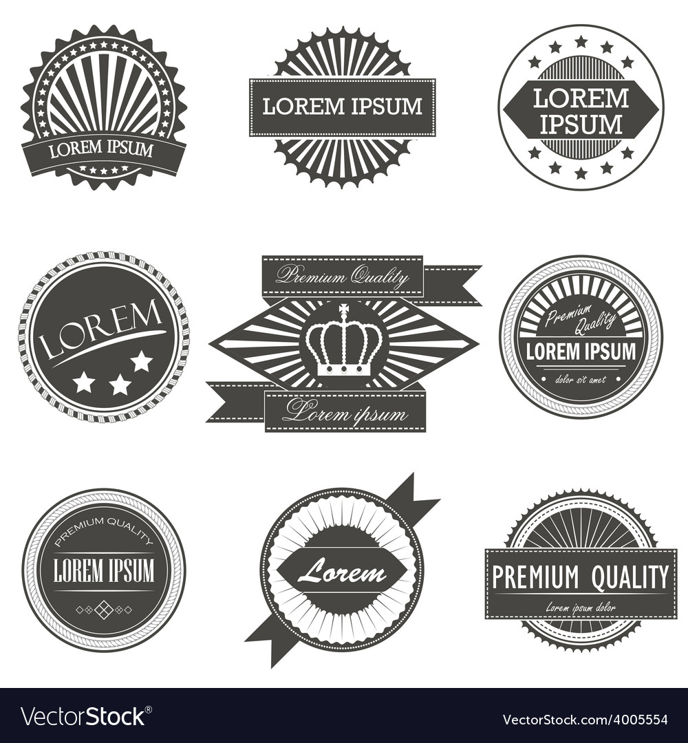 Collection of premium quality labels with retro vector | Price: 1 Credit (USD $1)