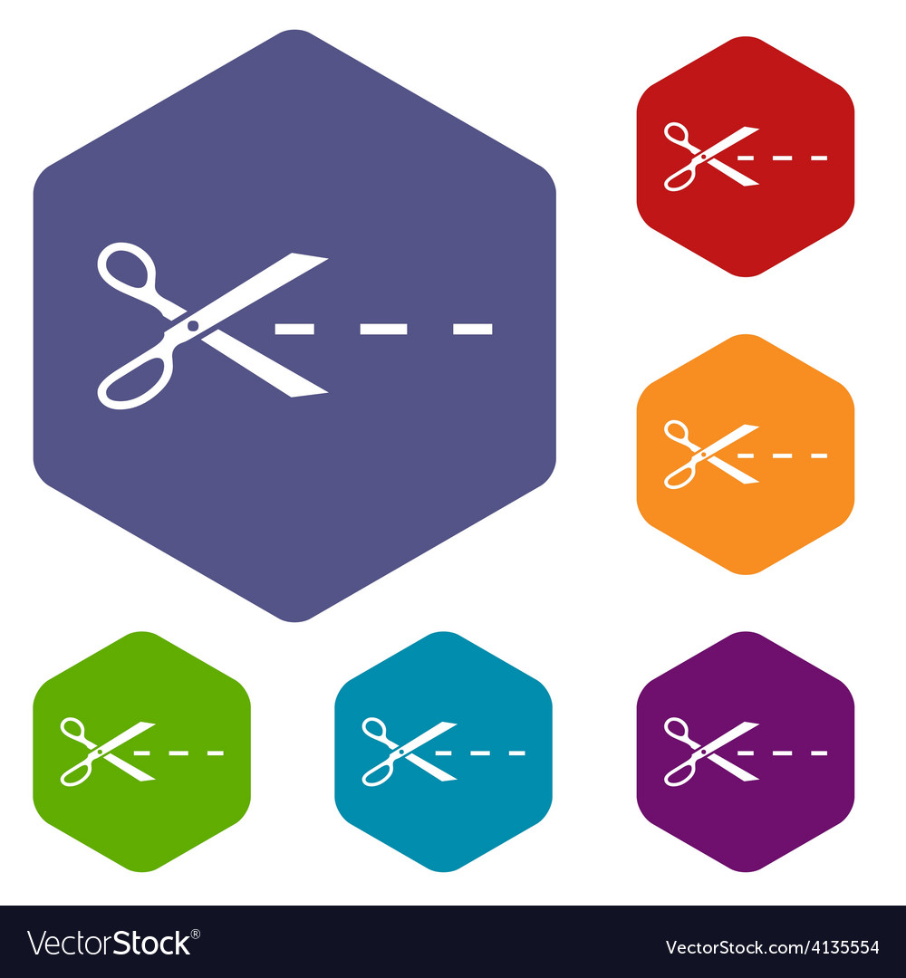 Cut rhombus icons vector | Price: 1 Credit (USD $1)