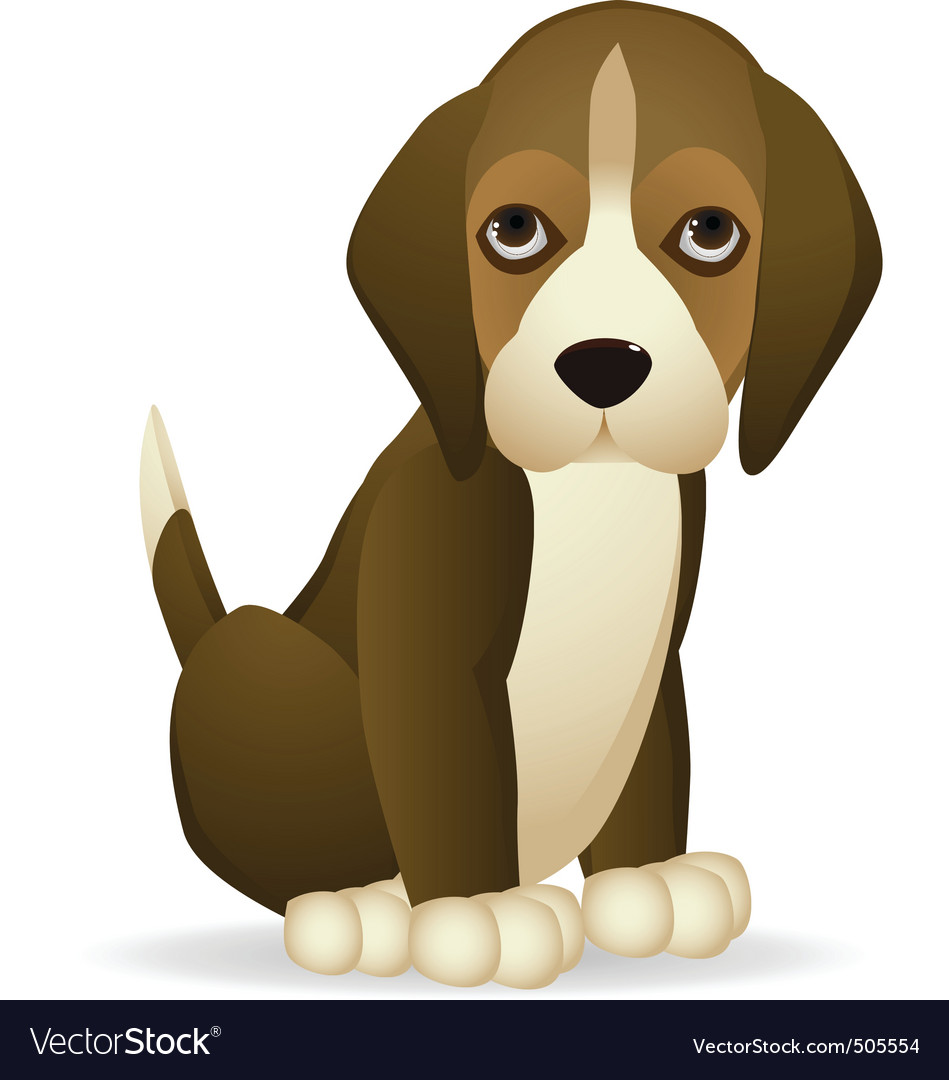 Cute dog vector | Price: 1 Credit (USD $1)