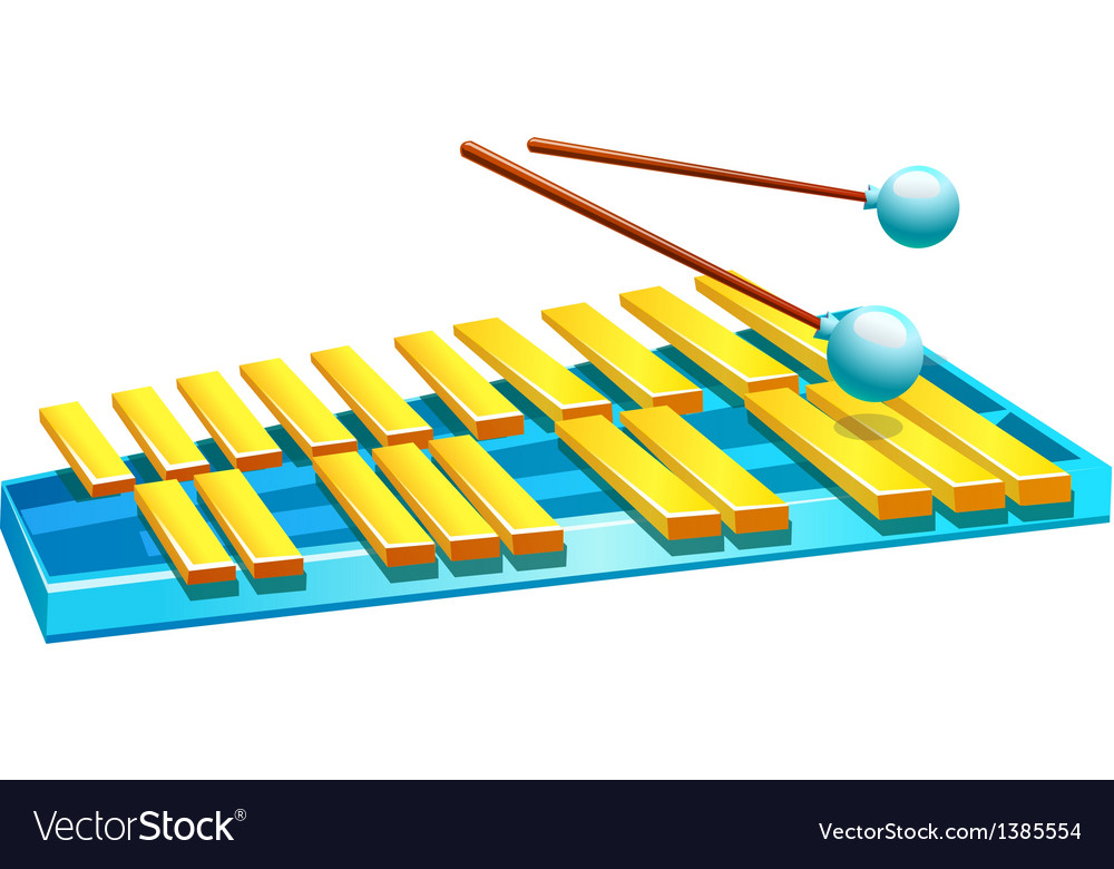 Icon xylophone vector | Price: 1 Credit (USD $1)