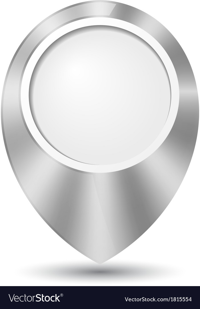 Metal round 3d map pointer vector | Price: 1 Credit (USD $1)