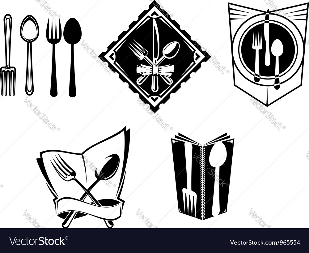 Restaurant menu icons and symbols vector | Price: 1 Credit (USD $1)