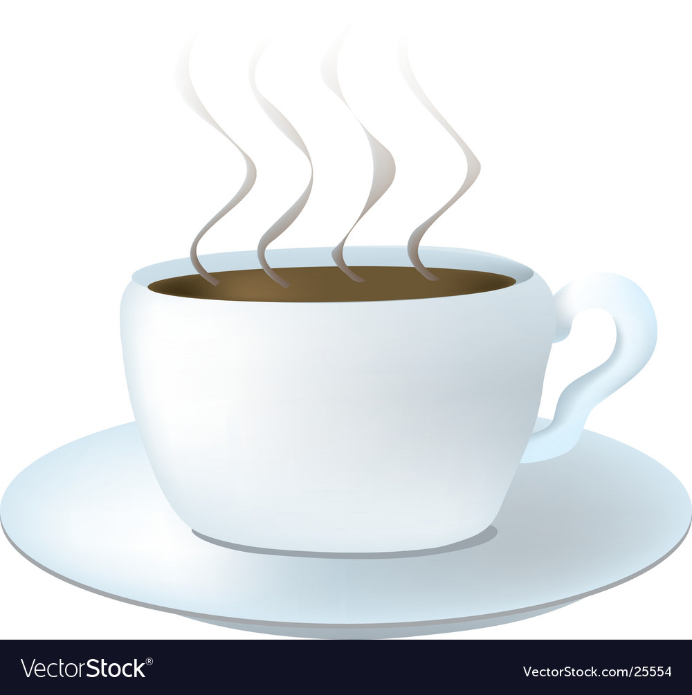 Steaming hot coffee vector | Price: 1 Credit (USD $1)