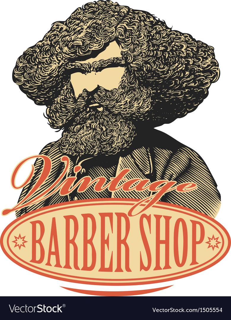 Vintage barber shop logo vector | Price: 1 Credit (USD $1)
