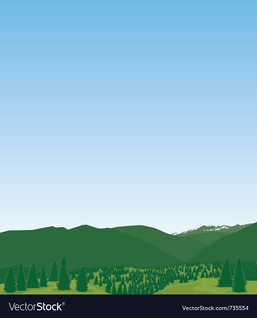 Western mountain landscape vector | Price: 1 Credit (USD $1)