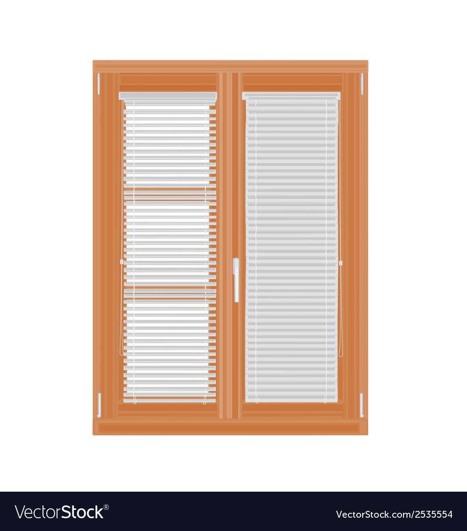 Window-and-blinds vector | Price: 1 Credit (USD $1)