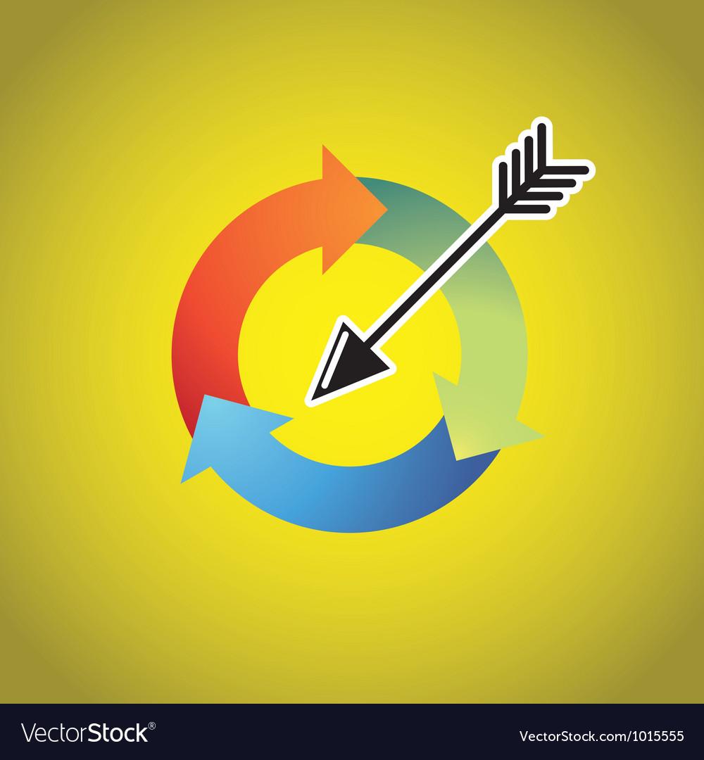 Arrow cycle vector   Price: 1 Credit (USD $1)