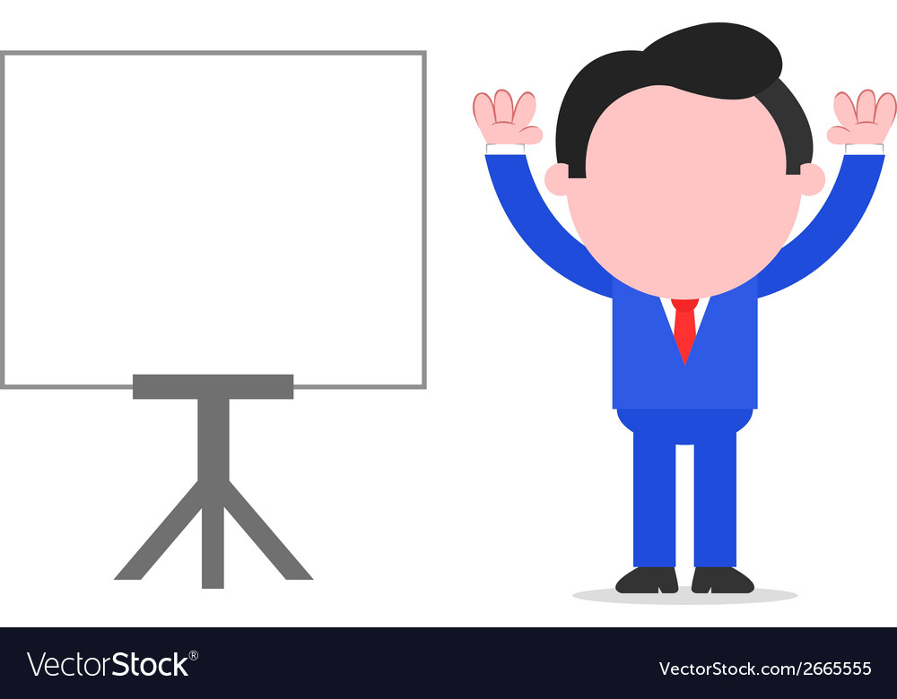 Businessman hands raised up beside chart vector | Price: 1 Credit (USD $1)