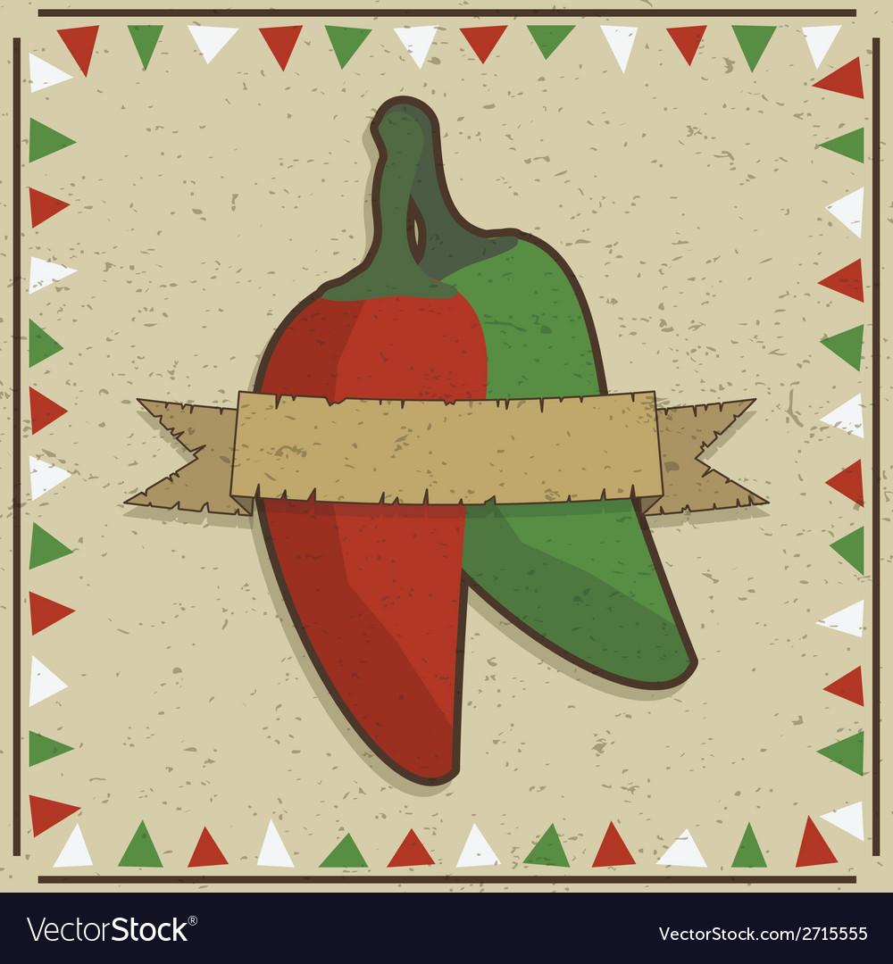 Chilli pepper decoration vector | Price: 1 Credit (USD $1)