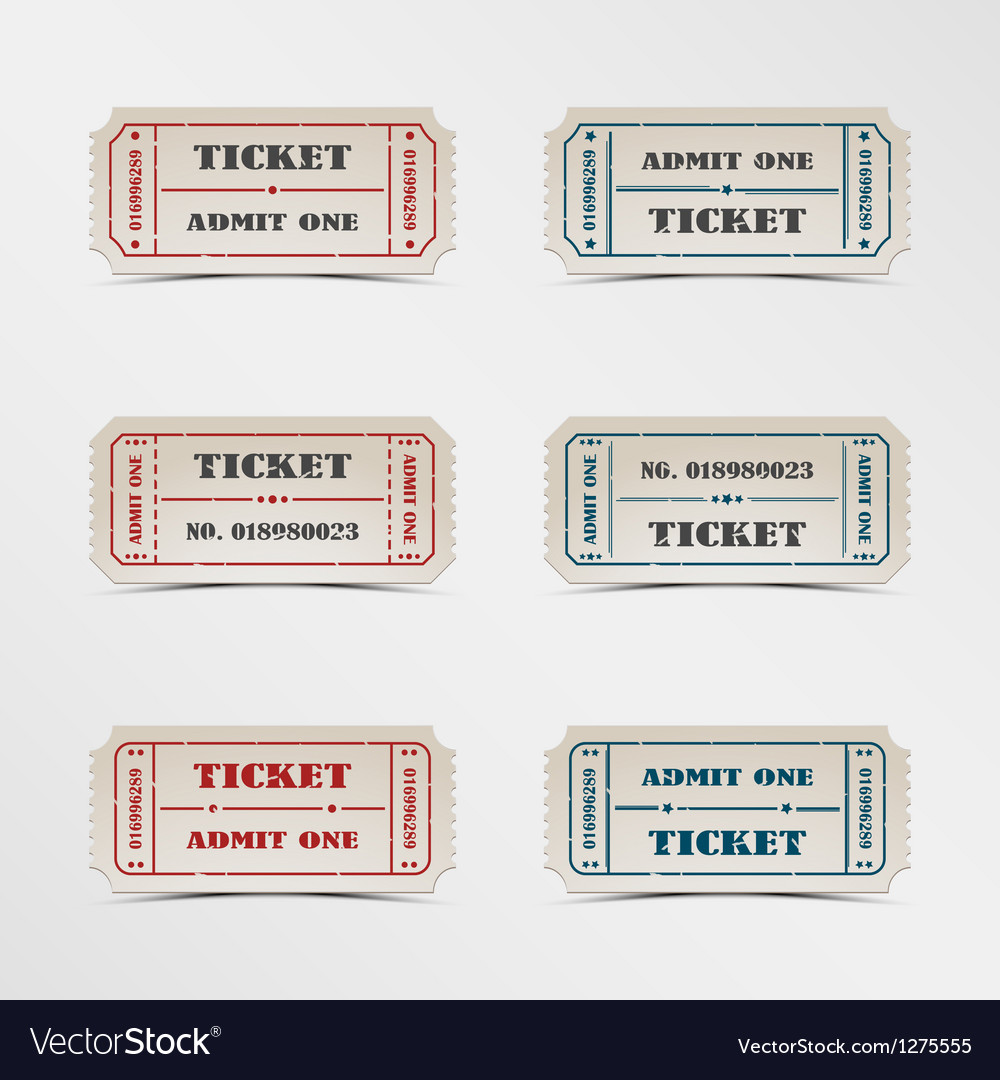 Collection vintage ticket vector | Price: 1 Credit (USD $1)