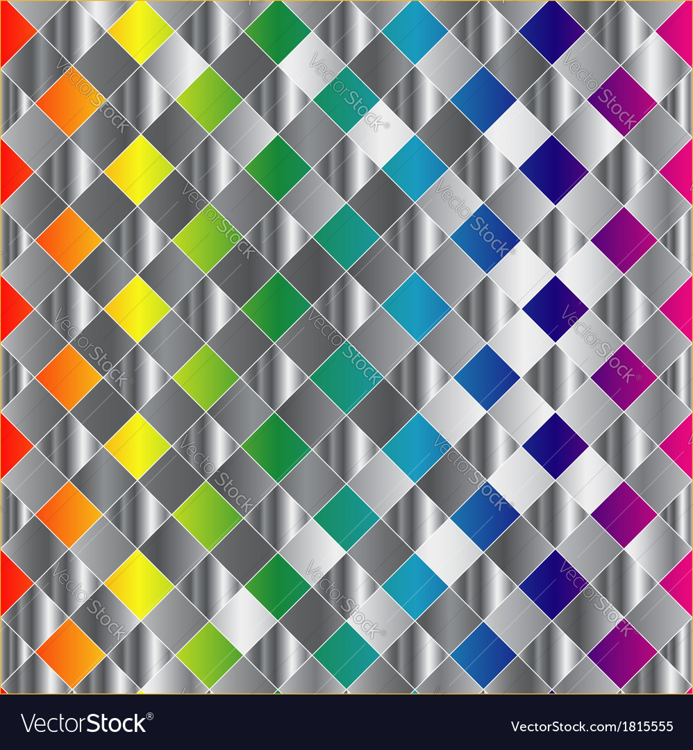 Colorful metal grid background vector | Price: 1 Credit (USD $1)