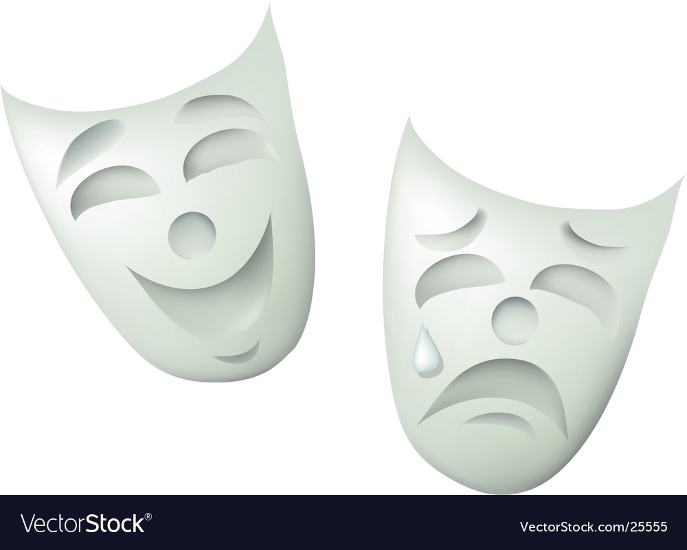 Comedy and drama masks vector | Price: 1 Credit (USD $1)