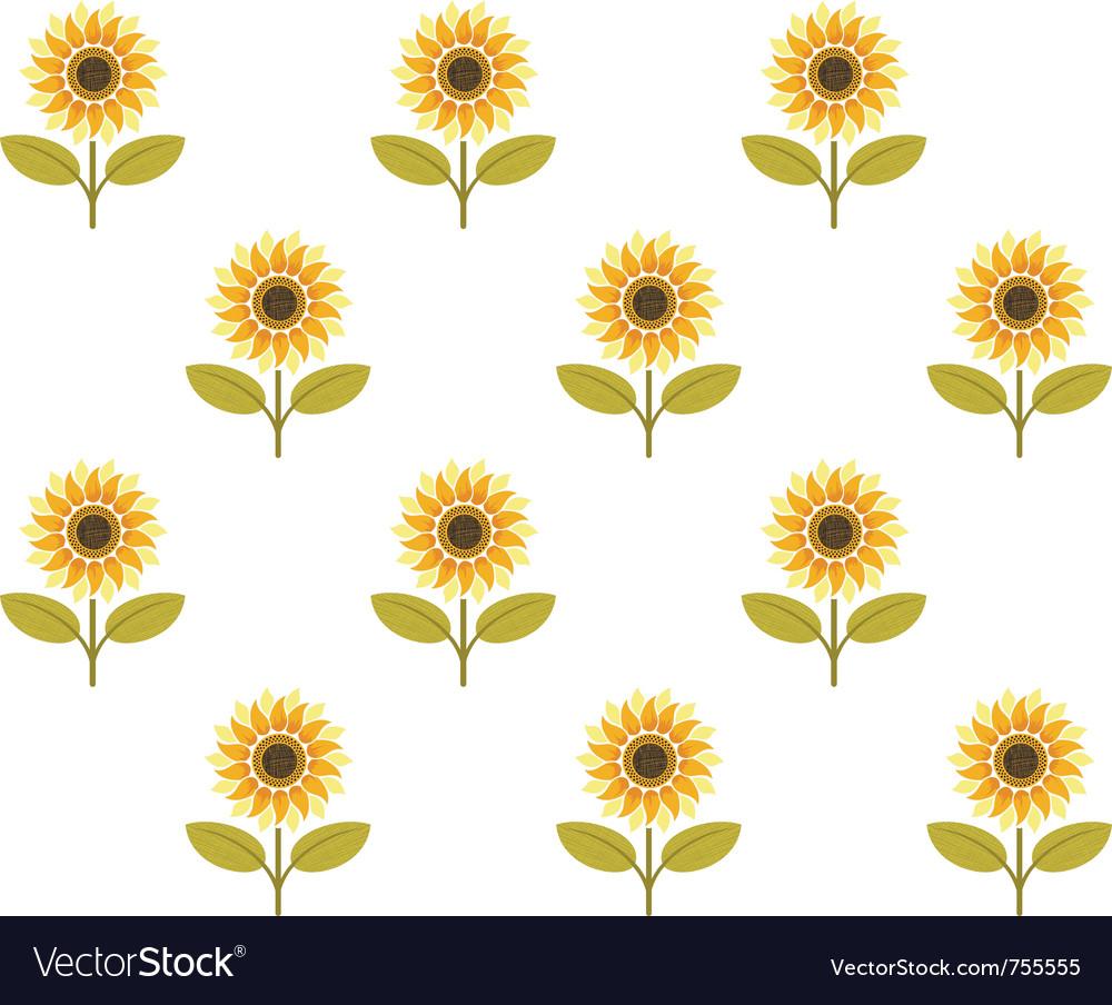 Cute sunflower seamless pattern vector | Price: 1 Credit (USD $1)