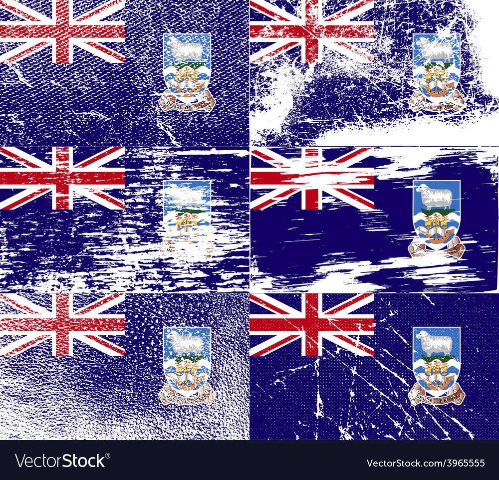 Flag of falkland islands with old texture vector | Price: 1 Credit (USD $1)