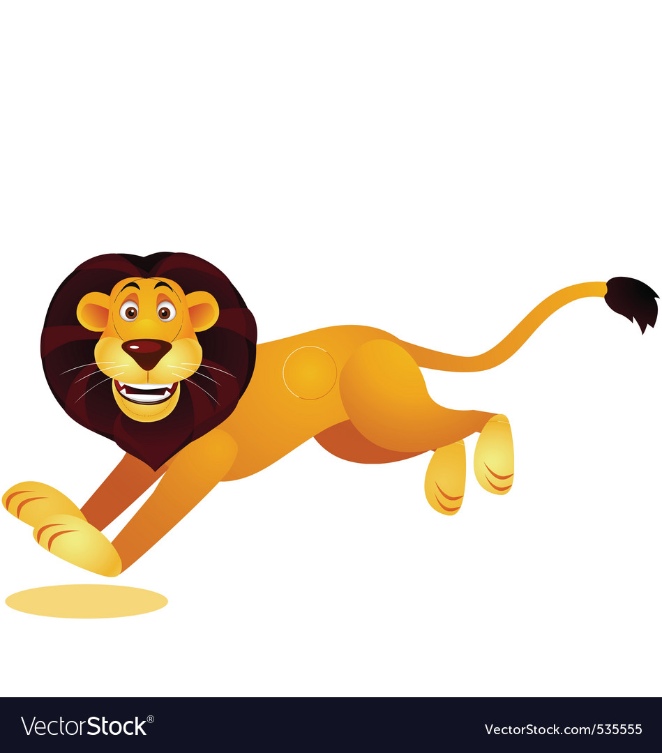 Lion running vector | Price: 1 Credit (USD $1)