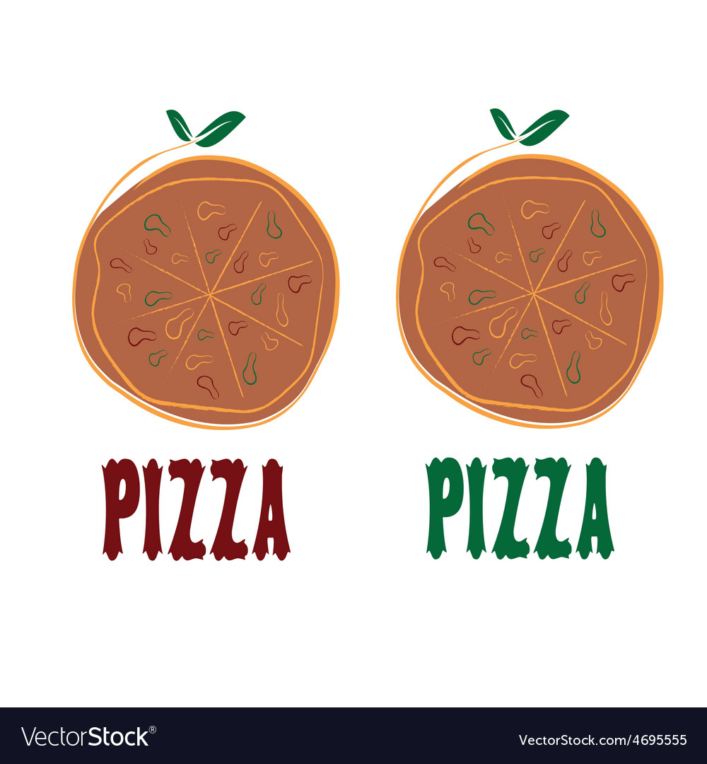 Pizza design template vector | Price: 1 Credit (USD $1)