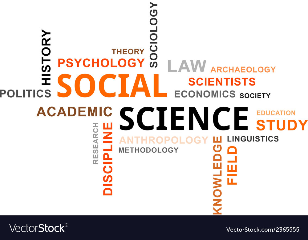 Word cloud social science vector | Price: 1 Credit (USD $1)
