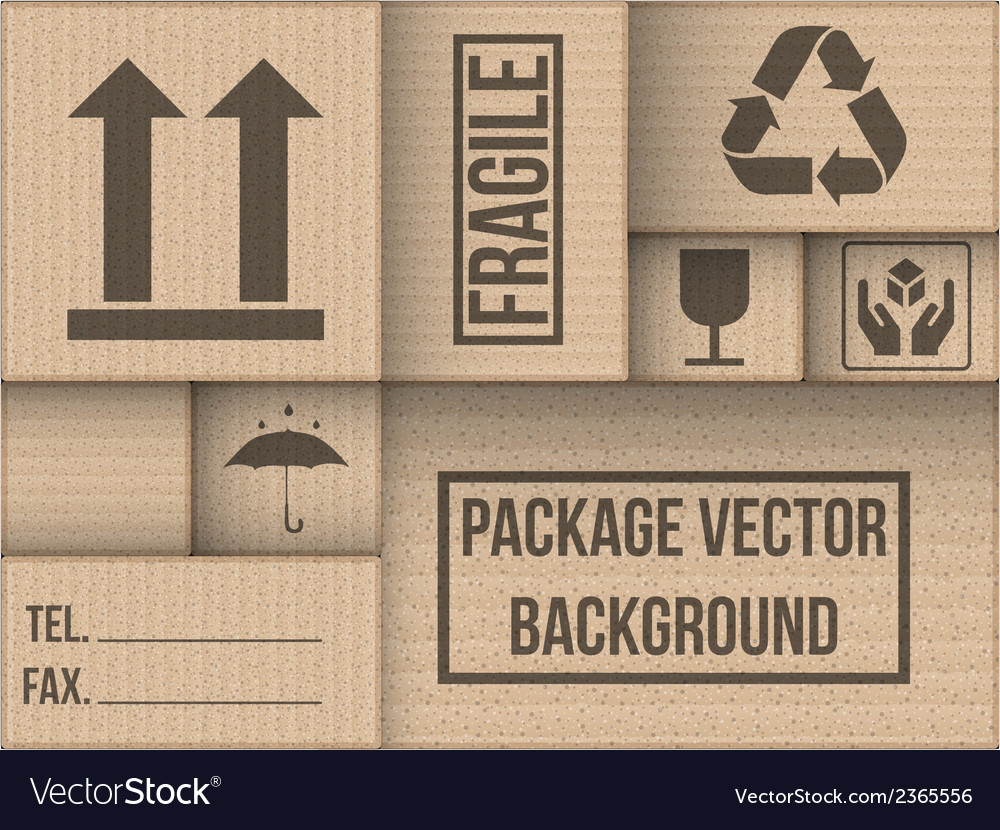Background of cardboard package vector | Price: 1 Credit (USD $1)