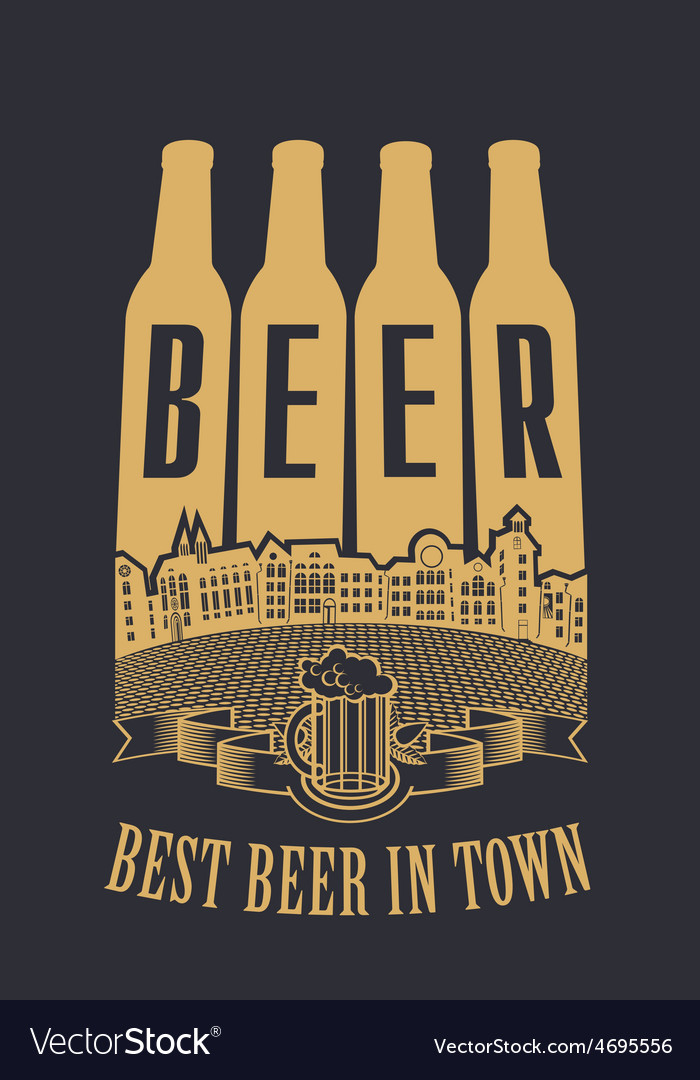 Best beer in town vector | Price: 1 Credit (USD $1)