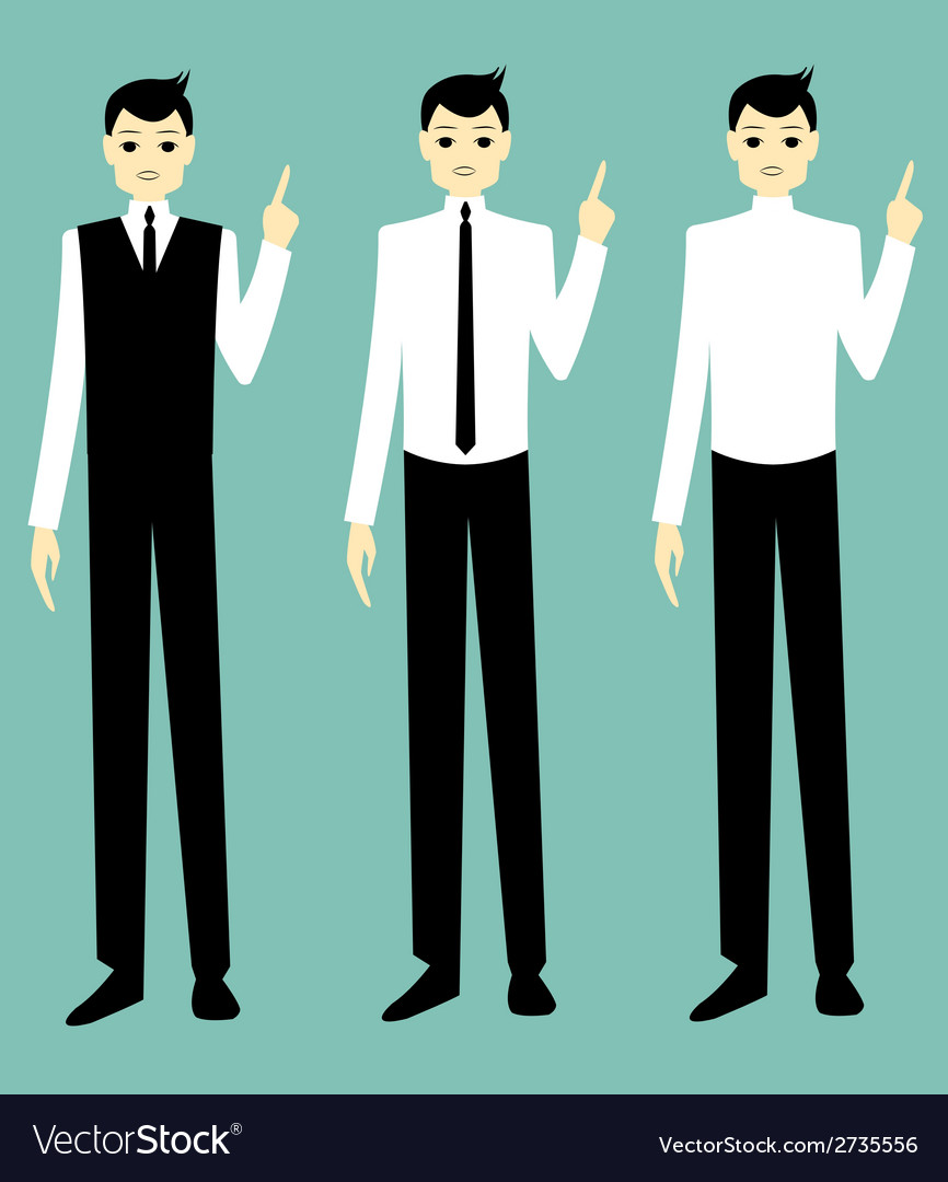 Businessman talk vector | Price: 1 Credit (USD $1)