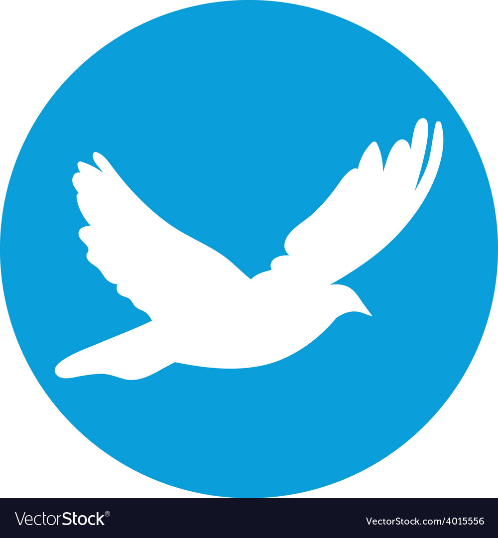 Dove for peace concept and wedding design flying vector | Price: 1 Credit (USD $1)