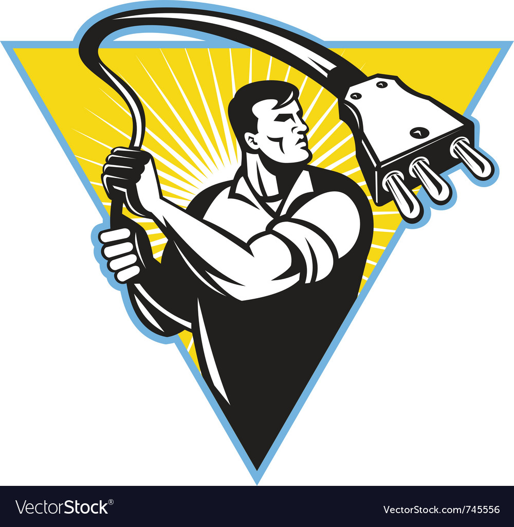 Electrician worker vector | Price: 1 Credit (USD $1)