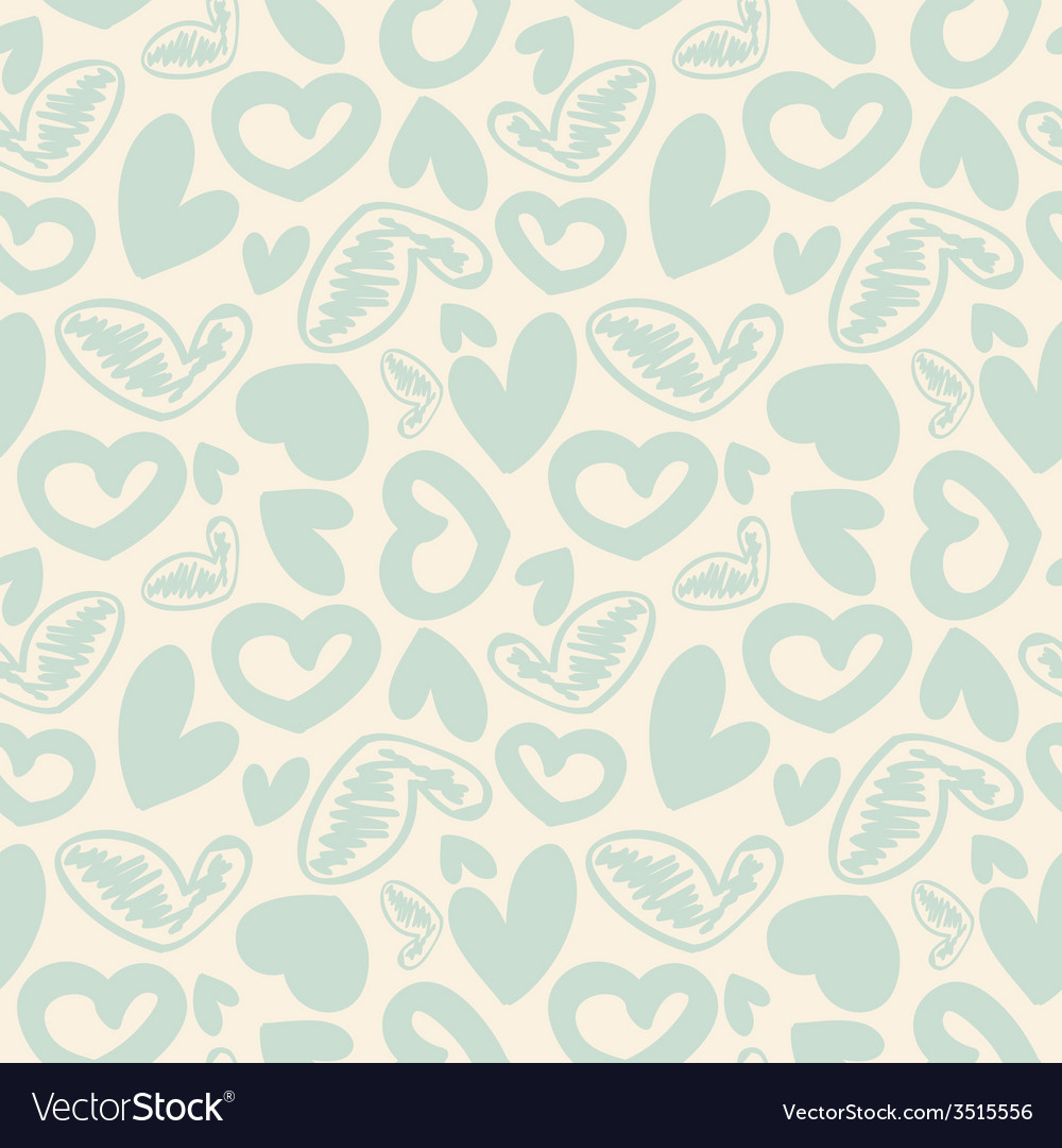 Fun seamless vintage love heart background in vector | Price: 1 Credit (USD $1)