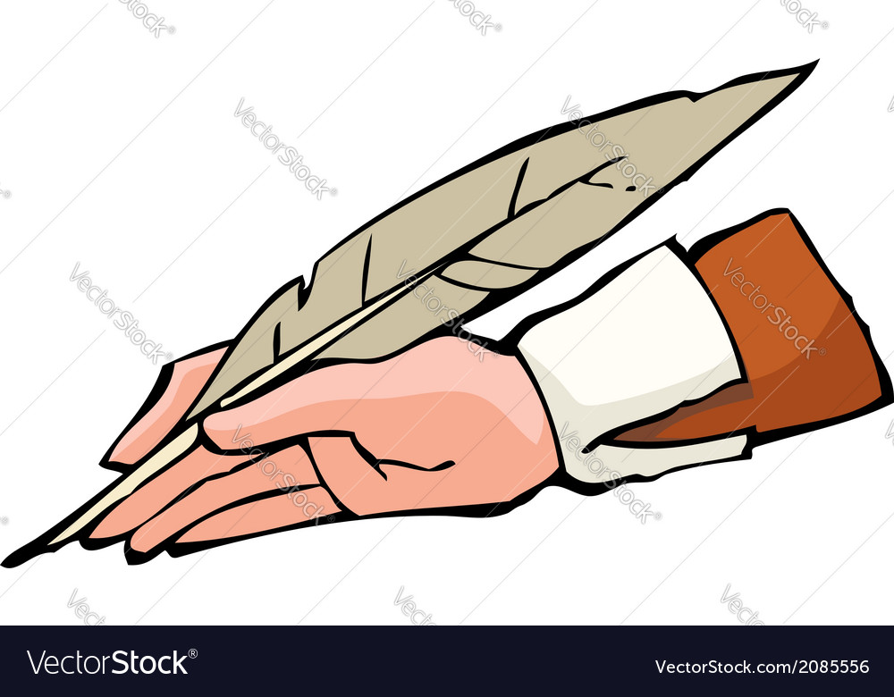 Hand with pen vector | Price: 1 Credit (USD $1)