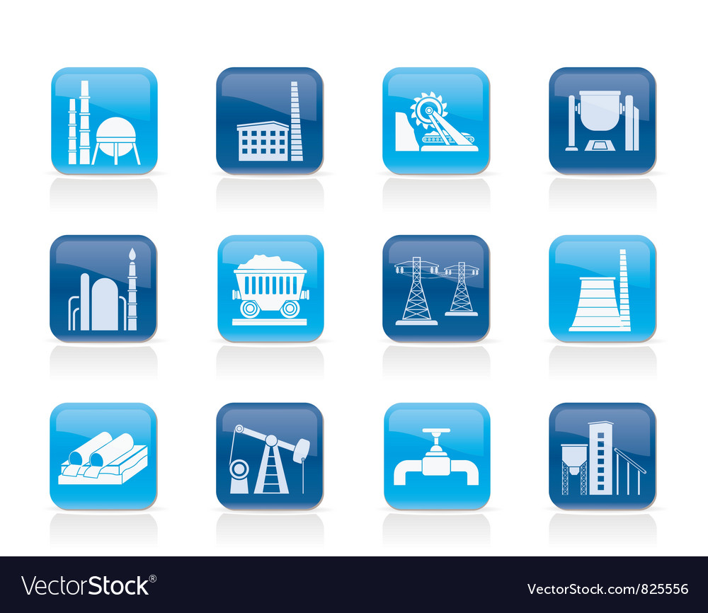 Heavy industry icons vector | Price: 1 Credit (USD $1)