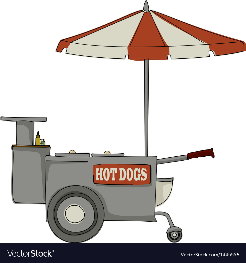 Hot dog stand vector | Price: 1 Credit (USD $1)