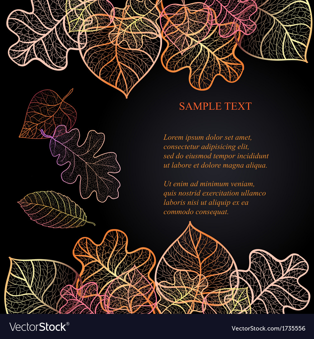 Ornamental background with art autumn leaves on vector   Price: 1 Credit (USD $1)