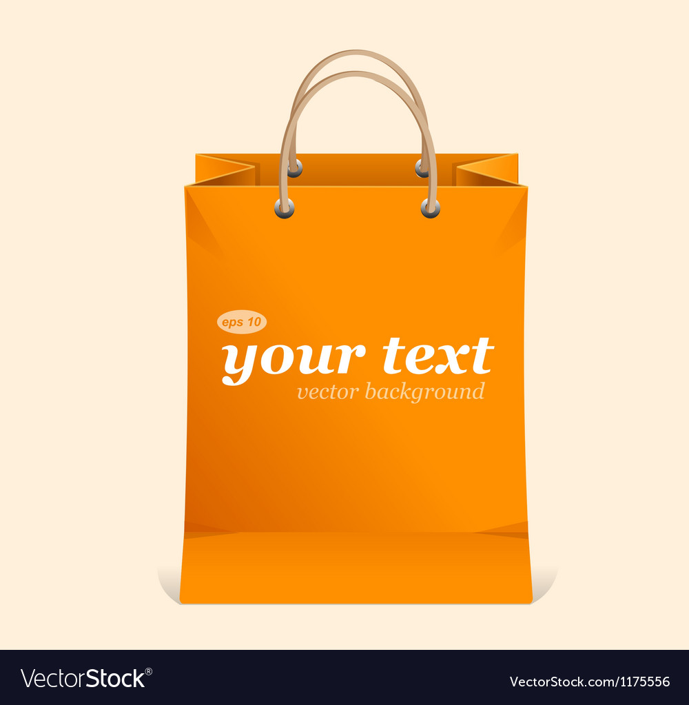 Paper shopping bag text area vector | Price: 1 Credit (USD $1)