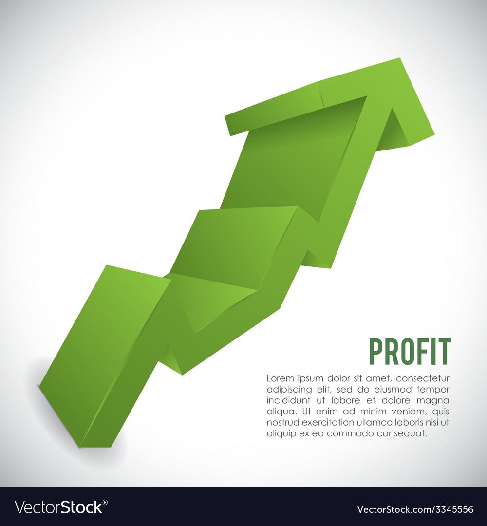Profit design vector | Price: 1 Credit (USD $1)