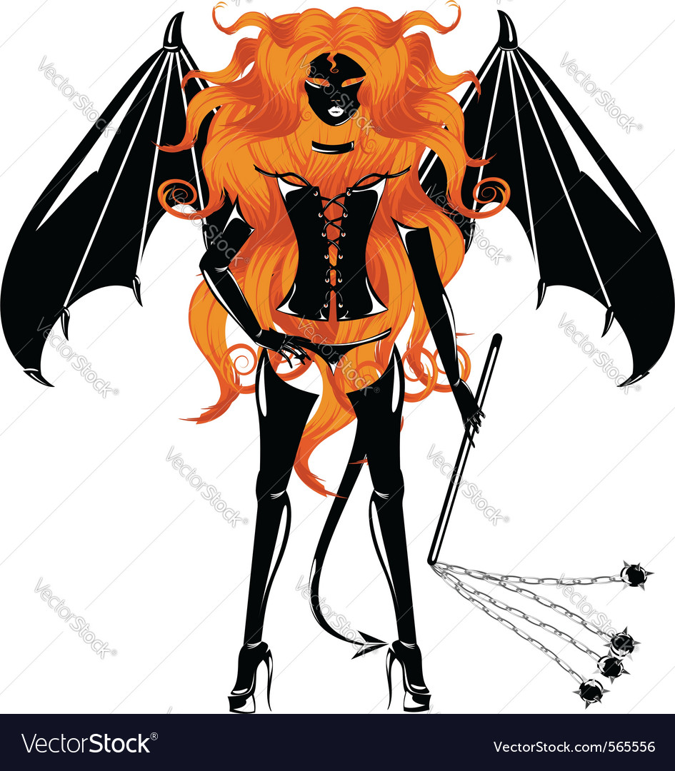 Redhaired demon vector | Price: 1 Credit (USD $1)