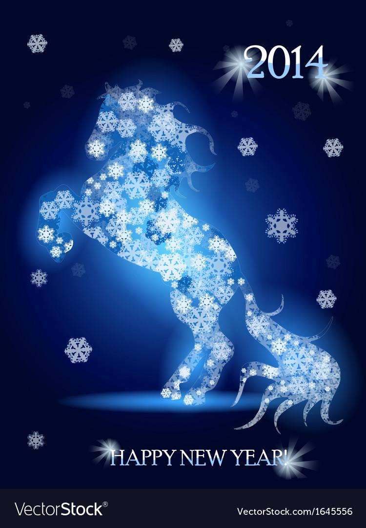 Snow horse vector | Price: 1 Credit (USD $1)