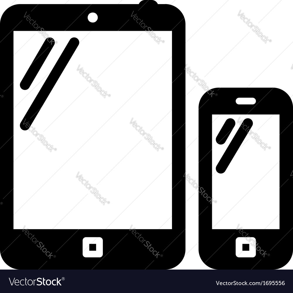 Tablet pc and mobile phone sign vector | Price: 1 Credit (USD $1)