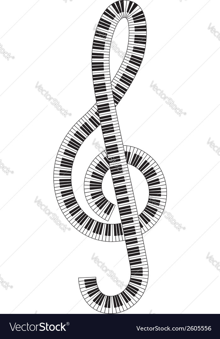 Treble clef vector | Price: 1 Credit (USD $1)
