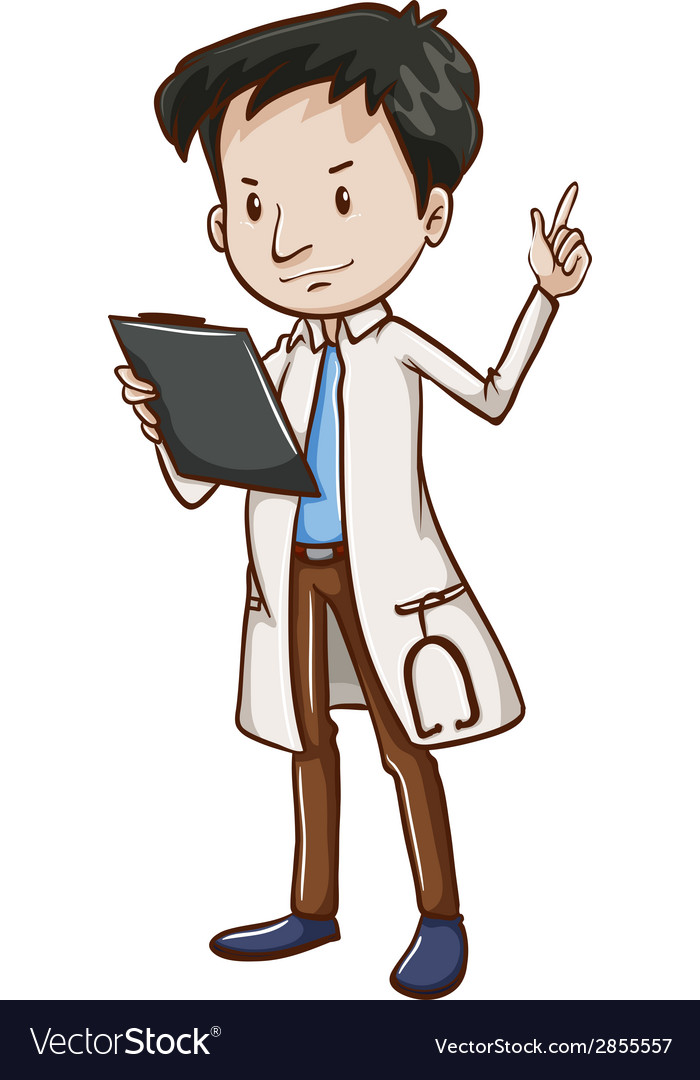 A simple sketch of a male doctor vector | Price: 1 Credit (USD $1)